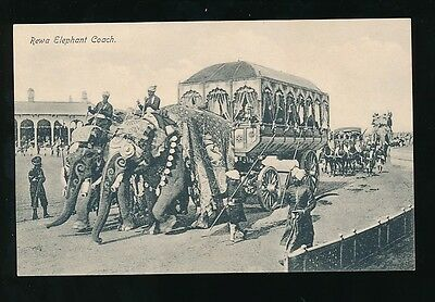 INDIA c1920 REWA ELEPHANT COACH PPC