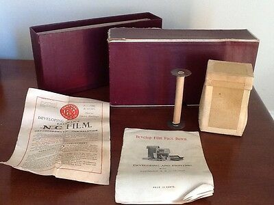 Kodak No. 3 Folding Pocket Kodak Spool, Developing Supplies, Instructions, Box