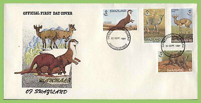 Swaziland 1997 Mammals set on First Day Cover