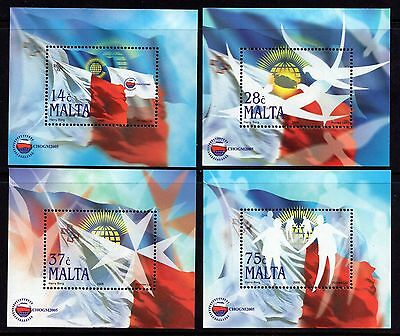 2005 Malta Four Miniature Sheets Commonwealth Meeting SG MS1454 Unmounted Mint