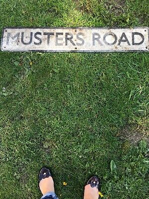 cast iron street sign Musters Road