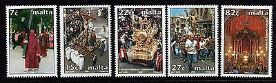 2006 Malta Holy Week Complete Set SG 1477 - 1481 Unmounted Mint
