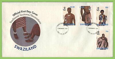 Swaziland 1997 Traditional Costumes set on First Day Cover