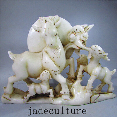 Chinese natural ancient old hetian jade jadeite hand-carved no pendant sheep 01