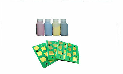 4 Toner Refill and Chip for RICOH  SP250SF SP250DN non-OEM