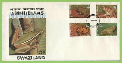 Swaziland 1998 Amphibians set on First Day Cover