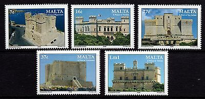 2006 Malta Castles and Towers Complete Set SG 1499 - 1503 Unmounted Mint