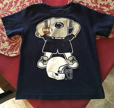 Toddler 3T PENN STATE Nittany Lions Football Short Sleeve T-Shirt/Top Navy Blue
