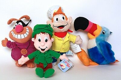 General Mills & Kelloggs Cereal 4 Characters Plush & Beanie Dolls Toys