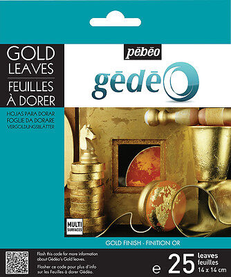 Pebeo Gedeo Gilding Foil Leaves 25 Sheets Gold