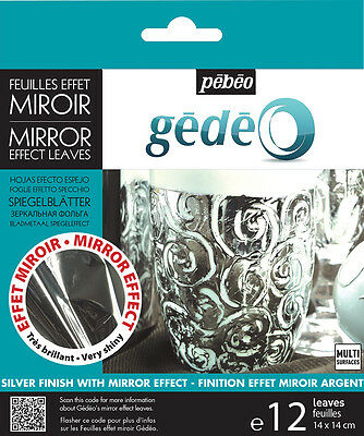 Pebeo Gedeo Gilding Foil Leaves 12 Sheets Silver