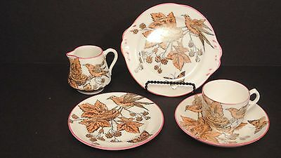 "Aesthetic English Transferware ""Birds and Leaves"""