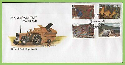 Swaziland 2001 Environment Protection set on First Day Cover
