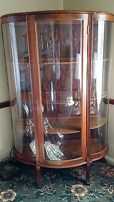 Beautiful Antique Bow Front China Cabinet
