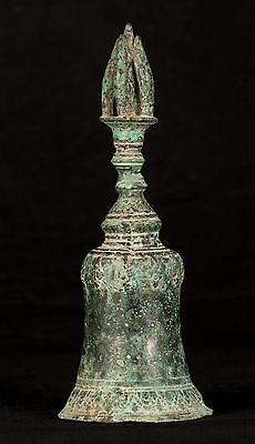 """19th Century Antique Southeast Asia Chinese Bronze Bell - 26cm/10"""""""