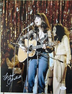 Linda Ronstadt autographed signed auto 11x14 with guitar photo JSA witnessed COA