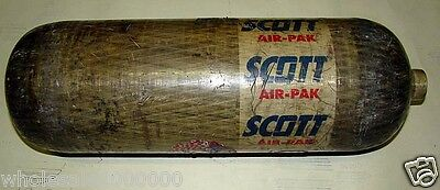 Mfg 1999 LAST USED 2008 Scott 4500ps 60 min SCBA Air Pak Cylinder Breathing Tank