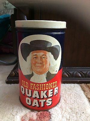 Quaker Oats Old Fashioned Vintage 1982 Tin Limited Edition Advertising Canister