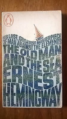 ERNEST HEMINGWAY 'THE OLD MAN & THE SEA' RARE 1st Ed. PENGUIN VINTAGE Pbk