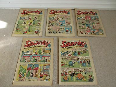 sparky comics x 5 from 1969/1970- Good/Fair condition-Rare