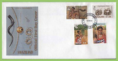 Swaziland 2003 Musical Instruments set on First Day Cover
