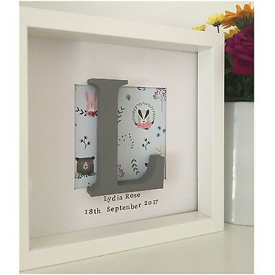 Personalised New Baby, Birth, Christening, Boy & Girl Letter Framed Gift ��