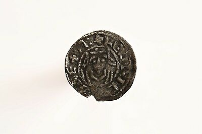 Rare Norman Henry I Penny Facing Bust Cross Fleury Type, Hastings Mint, S1271