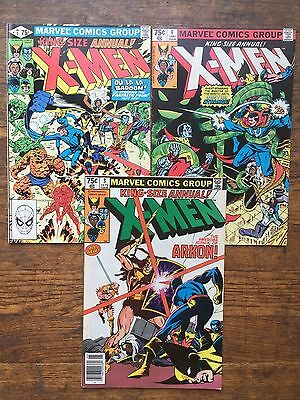 The Uncanny X-Men Annual #s 3,4,5-Fine,Combined Shipping