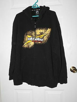 Ski-Doo Mens X-Team Hoodie Black Yellow  2Xl Brp Black Euc