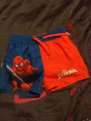 baby boy spiderman swim trunks age 12/18 months