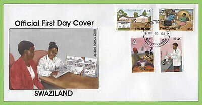 Swaziland 2004 AIDS set on First Day Cover