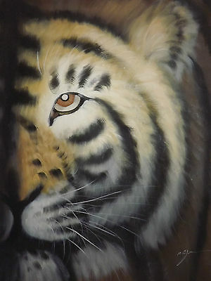 abstract wild tiger oil painting canvas modern contemporary art original animal