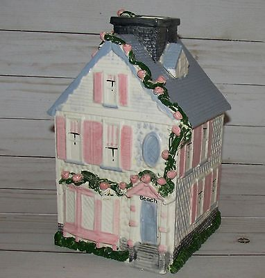 Vtg Handmade Beach House Victorian Style Cottage BIG Painted Porcelain Pottery
