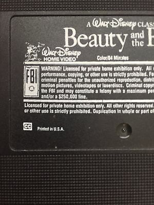Walt Disney Classic: Beauty and the Beast 1992 VHS Dimond Edition. Mickey Logo.