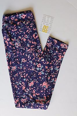 NEW LuLaRoe One Size womans leggings multi-colored floral flower print NWT OS