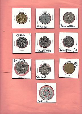 11 Vintage GOOD LUCK TOKENS