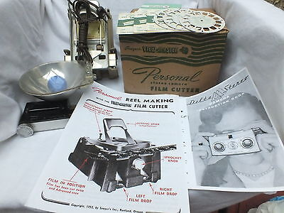 Viewmaster Cutter for Personal Stereo Camera-LIKENEW Condt+3 NEW reels