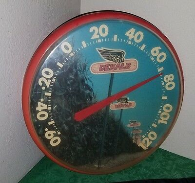 RARE Vintage 50's CHANEY Instrument Co. DEKALB Advertising Outdoor Thermometer!