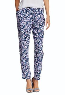 Wayf NEW Blue Womens Size Large L Printed Straight Leg Casual Pants $78 810
