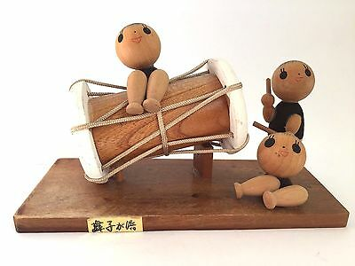 8.1cm Kokeshi Japanese Antique Wooden Doll No.ADL3