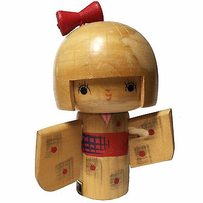 Vintage Kokeshi Antique Japanese Wooden Doll