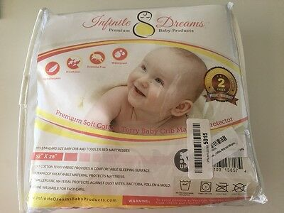 Premium Baby Crib Mattress Pad Cover - High Quality Breathable Soft Cotton Terry