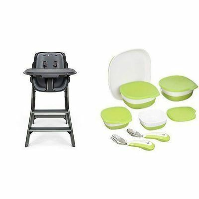 4moms Black/Grey High Chair with Starter Kit