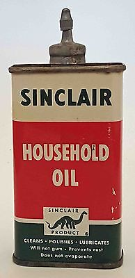 Vintage Tin/sinclair Household Oil 4Oz. Oiler With Metal Spout