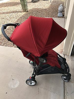 Baby Jogger City Mini ZIP Lightweight Compact Fold Single Stroller Red NEW