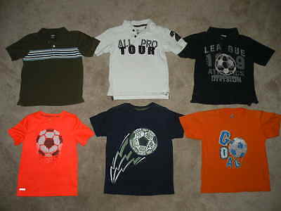 LOT Crazy 8 Gymboree Boy's Spring Clothes Soccer Polo Shirts Tees Tops S 5 6