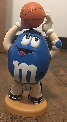 Vintage M&M's Blue Peanut Basketball Player Original Candy Dispenser MARS