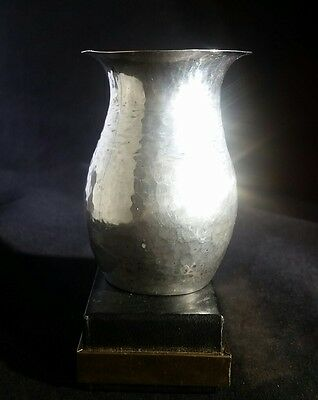 Antique Sterling Silver Vase Arts & Crafts Era Signed 4.88oz Handmade OOAK 1914