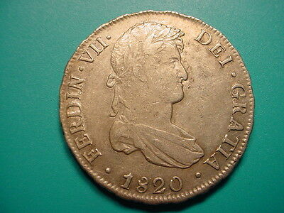 Bolivia~Silver 1820 PTS PJ 8-Reales in Very Nice Condition!