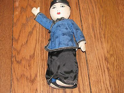 """antique cloth Japanese doll_authentic clothing_hand raised_10"""" male doll"""